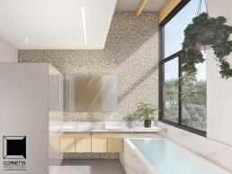 cornetta arquitetura, casas ecologicas, madeira laminada colada, mlc, banheiro moderno, spa, banheira