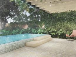 cornetta arquitetura, casas ecologicas, madeira laminada colada, mlc, varanda, pergolado, piscina, jardim vertical, pedra
