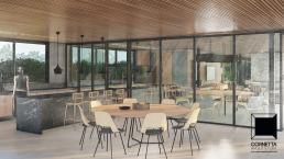 cornetta arquitetura, casas modernas, estruturas metalicas, prefab, steel, houses, ambientes integrados