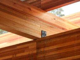 detalhe, estrutura, arquitetura, madeira, mlc, tirantes, aço, estrutura metalica