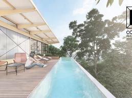 casas modernas, casas ecologicas, madeira laminada colada, deck, mirante, piscina, raia