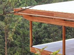 casas, ecologicas, modernas, madeira, declive, vista panoramica, mirante
