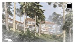 cornetta arquitetura, casas modernas, madeira laminada colada, fachadas