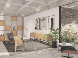 cornetta arquitetura, casas modernas, madeira laminada colada, concreto aparente, laje grelha