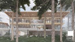 casa sustentável, cornetta arquitetura, casas modernas, madeira laminada colada, fachadas, sobrados, glulam