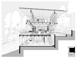 projeto, arquitetura, corte, bim, section, architecture