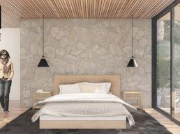 cornetta arquitetura, casas modernas, madeira laminada colada, suíte, pedra