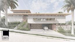 cornetta arquitetura, casas modernas, fachadas modernas, concreto, madeira laminada colada
