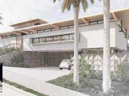 cornetta arquitetura, casas modernas, fachadas, concreto e madeira