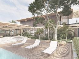 cornetta arquitetura, casas modernas, piscina, lazer, deck, formato L