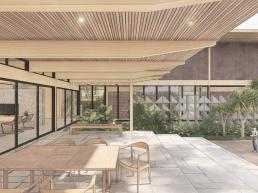 cornetta arquitetura, casas modernas, varanda, deck, lazer