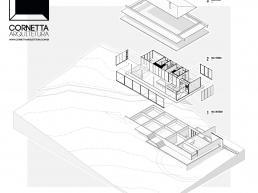 Projeto, Arquitetura, Axonométrica, Prefab, Achitecture