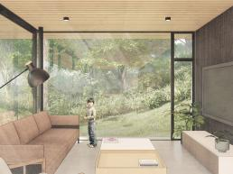 Cornetta Arquitetura, lofts, casas de campo, living, estar, ambientes conjugados, abertos