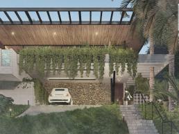 cornetta arquitetura, casas modernas, estruturas metalicas, fachadas, concreto aparente, garagem aberta