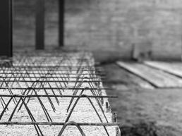 laje painel, concreto aparente, estrutura metalica