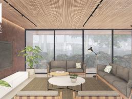 cornetta arquitetura, casas modernas, estruturas metalicas, interiores, concreto, aço corten, madeira