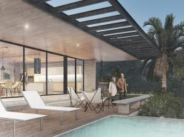 cornetta arquitetura, casas modernas, estruturas metalicas, varanda, deck, mirante, piscina