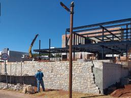 contrucao, construção, casa, estrutura metalica, pedra, concreto