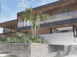 fachadas, sobrados, modernos, estrutura metalica