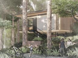 casas, ecologicas, modernas, bosque, mata, natureza, madeira