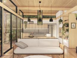 casa modular, madeira, ecologica, echo house, ecohouses, small houses, glulam, wood