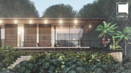 residência de estrutura metálica, casas, sacadas varandas, mirante, deck, estrutura metalica, vidro, jardim