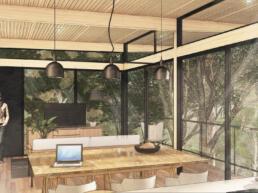 arquitetura modular, modular house, ,madeira, mlc, glulam, bosque, mata nativa
